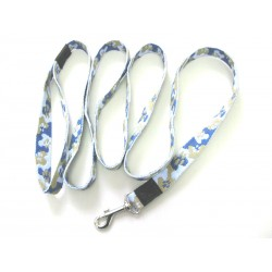 Smycz klasyczna 2,5 cm 2,0m niebiesko-blętkitna
