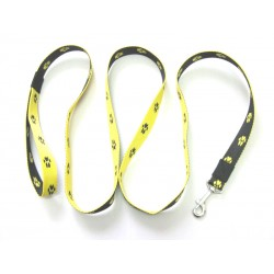 Smycz klasyczna 2,5 cm 1,0m żółto-czarna