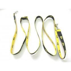 Smycz regulowana 2,5cm 2,0m żółto-czarna