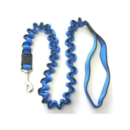 Smycz rozciągliwa 2,5 cm 0,9-1,5m niebieska